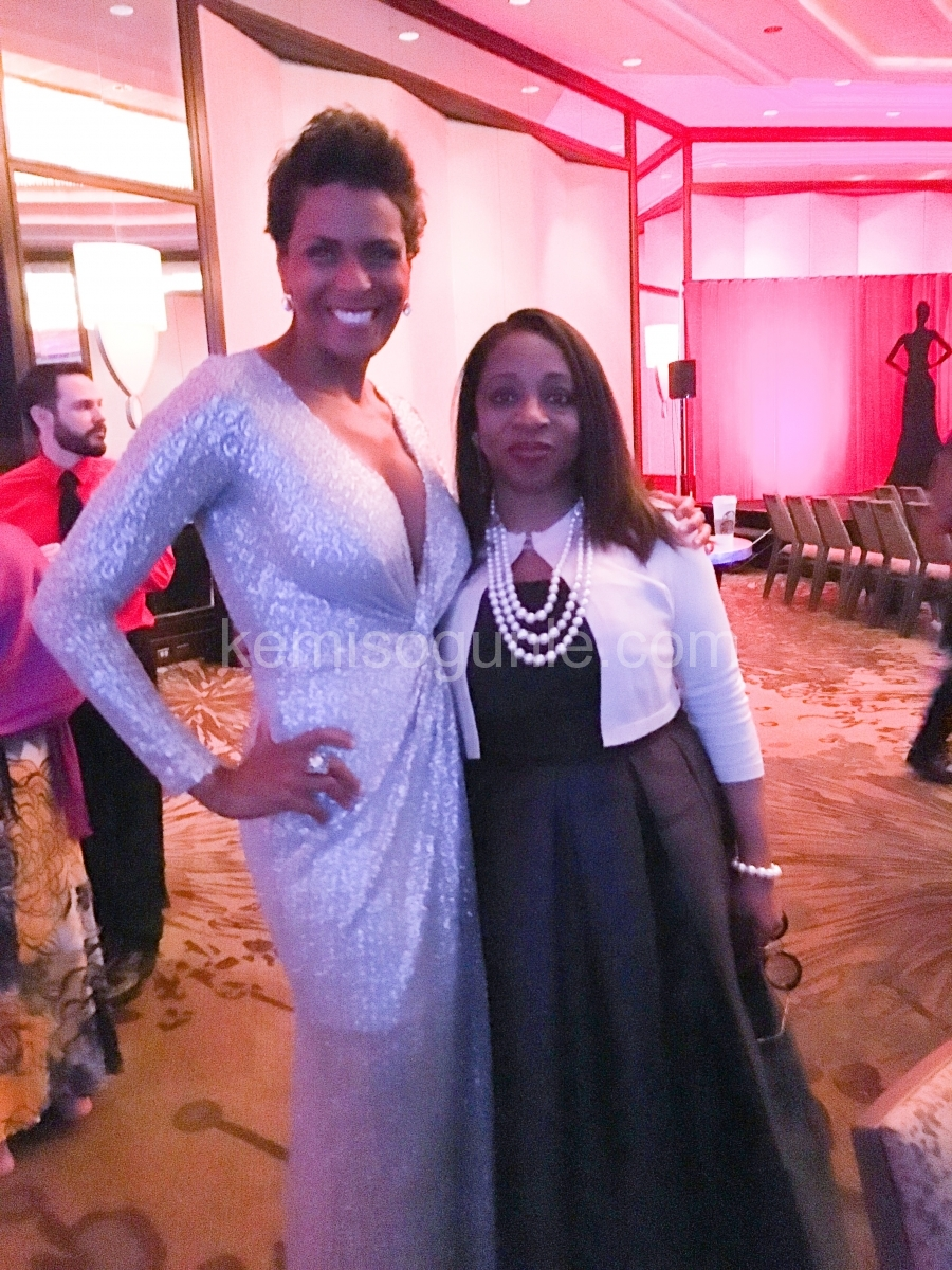 Kemi with Emmy Award winner and TV Personality, Darieth Chisolm