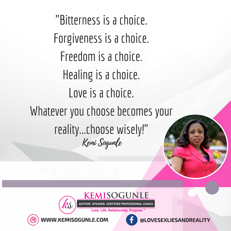 Quote on choices by Kemi Sogunle