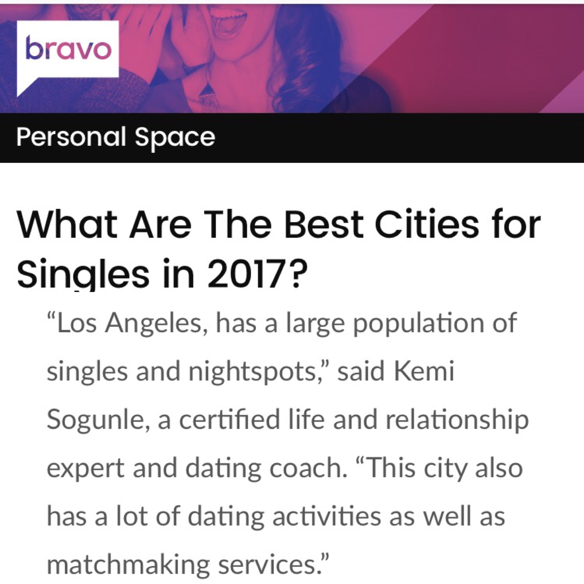 Best Cities for Singles 2017