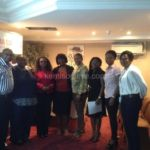 Kemi Sogunle with attendees at the book tour event in South Ockendon London